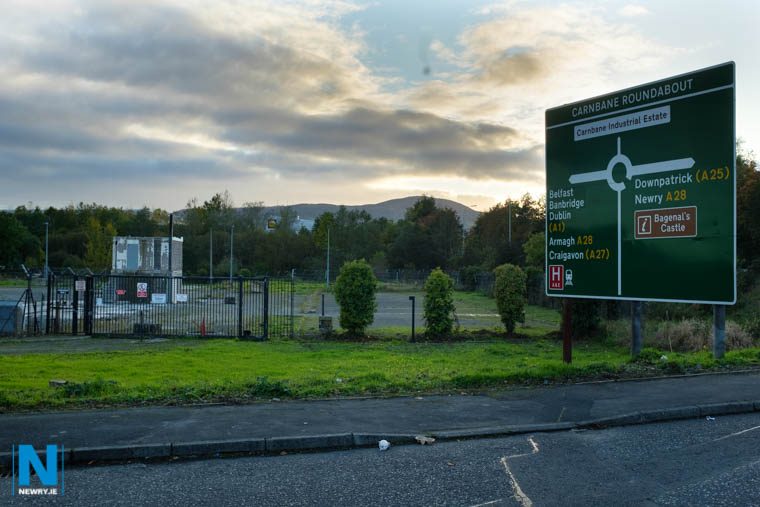 \the site of the proposed development at Carnbane Way. Photograph: Columba O'Hare/ Newry.ie