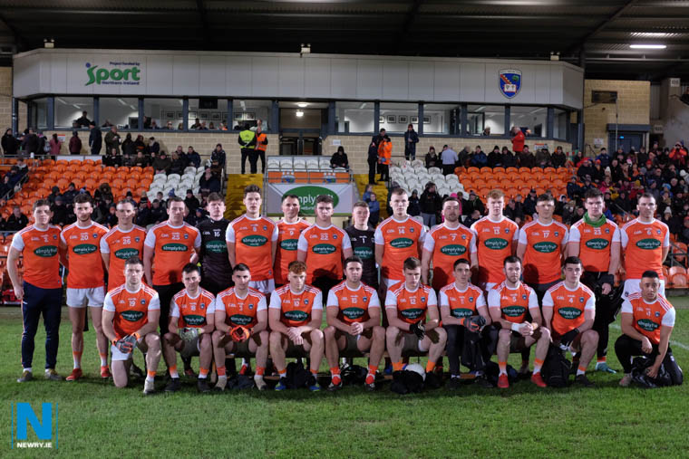 The Armagh team who opened their Division 2 League campaign against Cavan at the Athletic Grounds. Photograph: Columba O'Hare/ Newry.ie