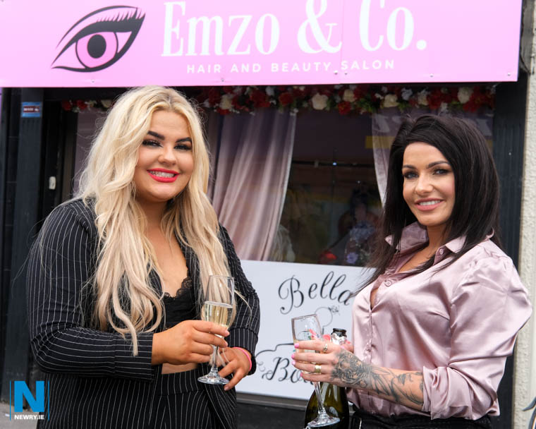 Emma Kearney and Maria Kelly in front of their Emzo & Co premises on St Mary Street in Newry. Photograph: Columba O'Hare/ Newry.ie
