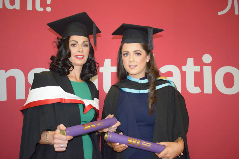 Mother and daughter Colleen and Chelsea Turley from Newry who both graduated at SRC's Higher Education Graduation. Colleen studied the City & Guilds Diploma in Leadership for Children's Care, Learning and Development (Management) and Chelsea studied the Queen's University Belfast Foundation Degree in Early Childhood Studies