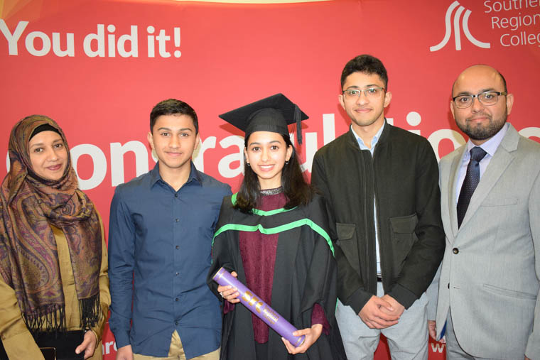 Fatima Khan from Newry who studied the Ulster University Foundation Degree in Applied Medical Sciences in Newry Campus. Fatima also won the full-time student of the year award for the School of Applied Science and Academic studies.