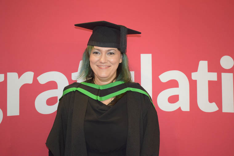 Oana Spatariu from Belfast who won the Full-time student of the year award in School of Creative Design and Computing.  Oana graduated after completing the Ulster University Foundation Degree in Science in Computing in Newry Campus.