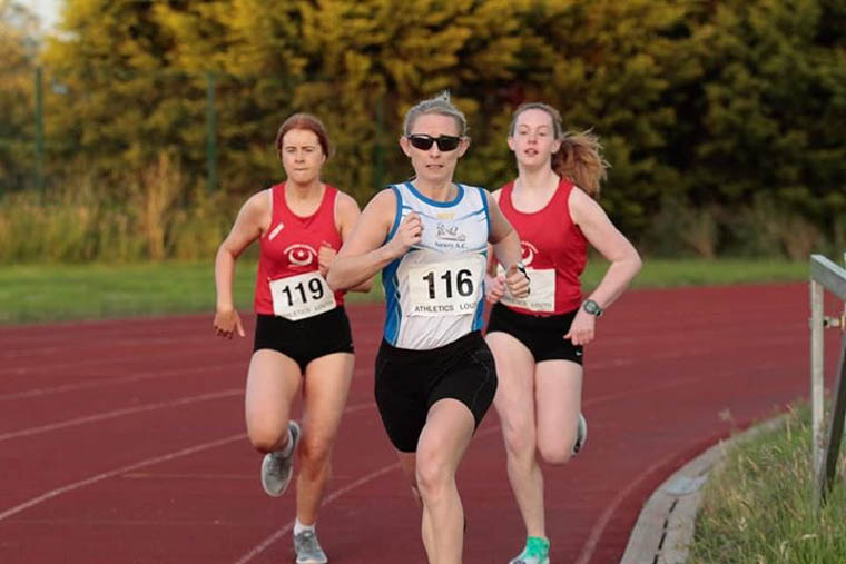 Sarah Jane Beattie during the Louth County Championships 800m Race