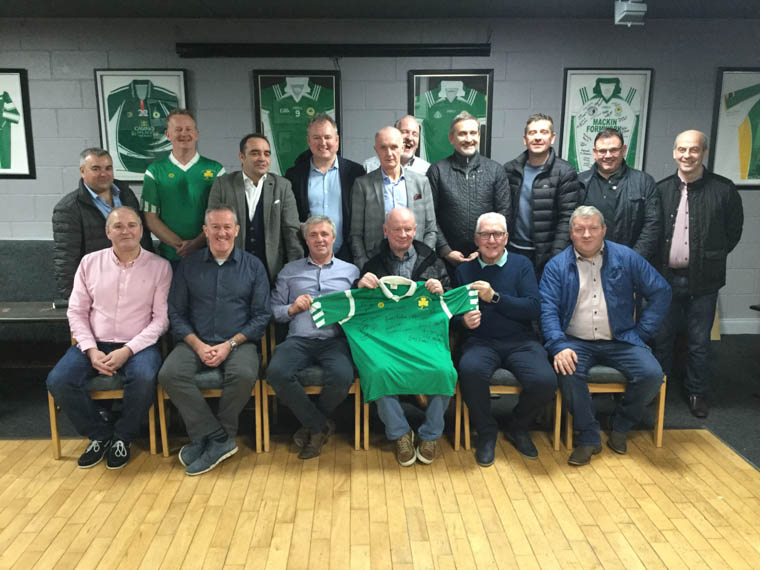 Shane O'Neill's 1994 Championship winners at their 25th Anniversary celebrations.