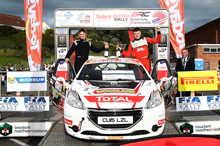 Junior British Rally Champions Josh McErlean (R) and Keaton Williams