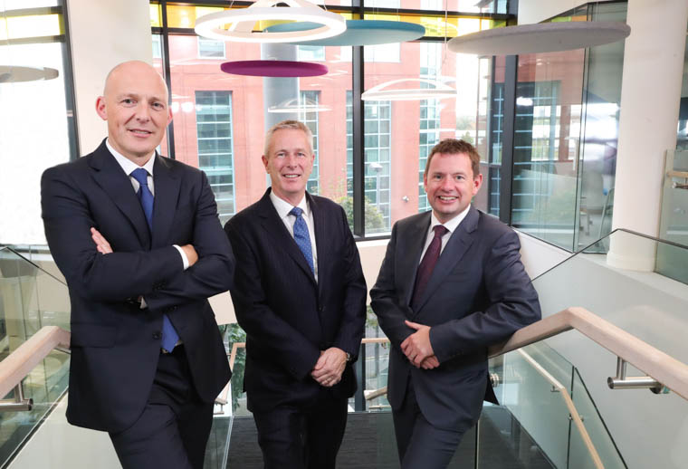 Johnny Hanna, incoming Partner in Charge at KPMG in Northern Ireland; John Hansen, Partner in Charge at KPMG in Northern Ireland; Seamus Hand, Managing Partner at KPMG Ireland