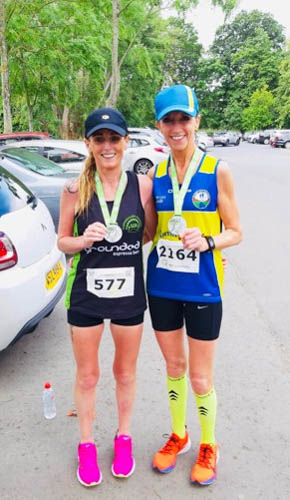 Lillian O'Hanlon and NCR Patricia Brown at Dublin 10 Miler
