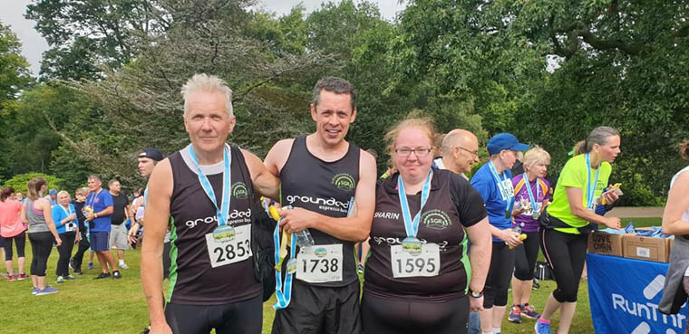SGR team at Hillsborough running festival