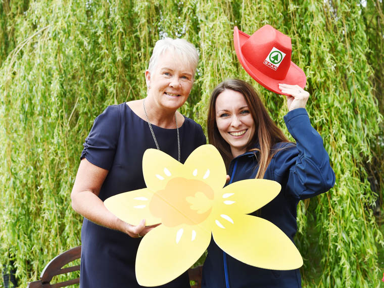 Looking forward to the fundraising are Anne Hannan, Marie Curie Partnerships Manager and Stephanie Tares, Assistant Brand Manager with SPAR NI.