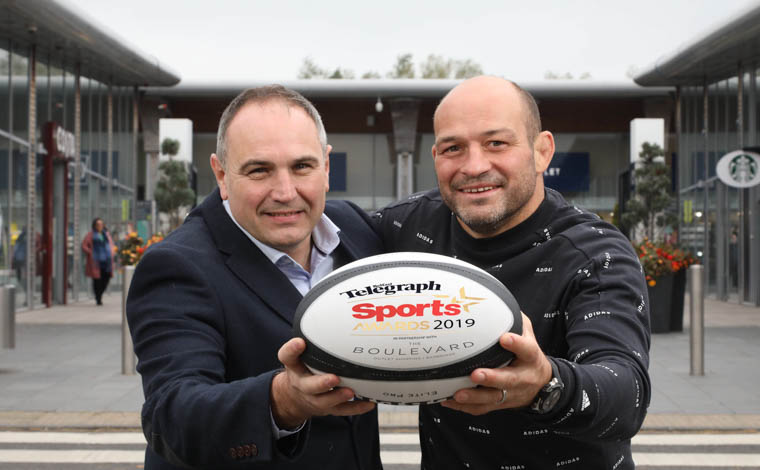 Former Ireland and Ulster captain Rory Best joins Chris Nelmes from title sponsor, The Boulevard to set the ball rolling on the 2019 Belfast Telegraph Sports Awards.
