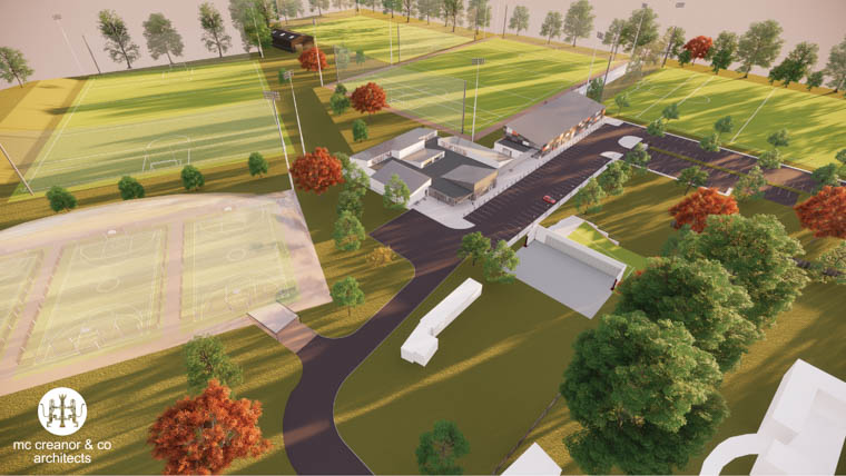 An artists impression of the new Armagh County training facility at St Malachy's, Portadown.