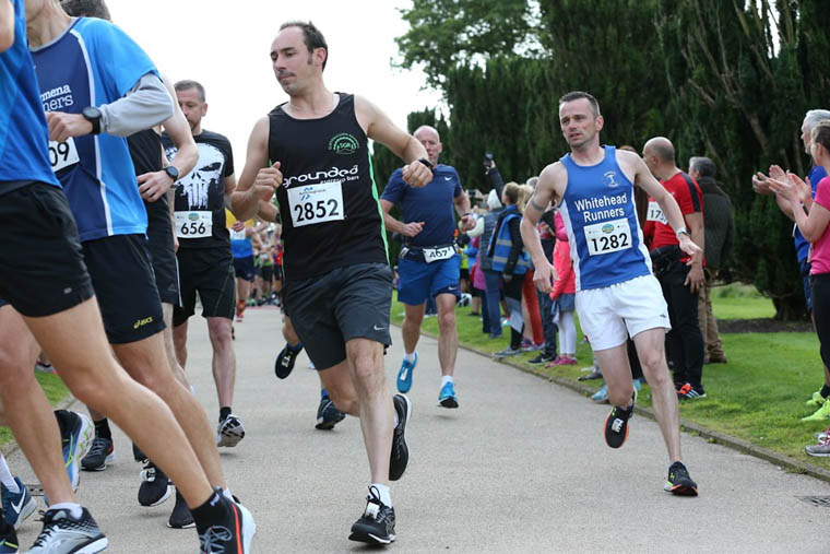 Stephen Quinn running at Hillborough Half Marathon