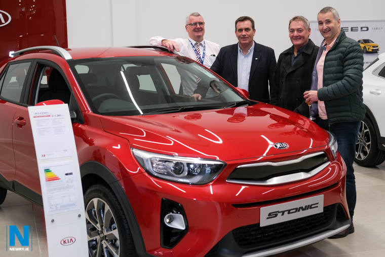 Brendan Heaney, Shelbourne Motors; with Ian McDonald, Hugh Cunningham and Raymond Flynn at the official opening of Shelbourne Motors in Newry. Photograph: Columba O'Hare/ Newry.ie