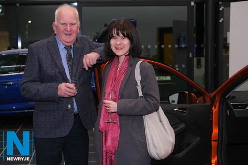 Francis Canning and daughter Margaret from Mountnorris at the official opening of Shelbourne Motors in Newry. Photograph: Columba O'Hare/ Newry.ie