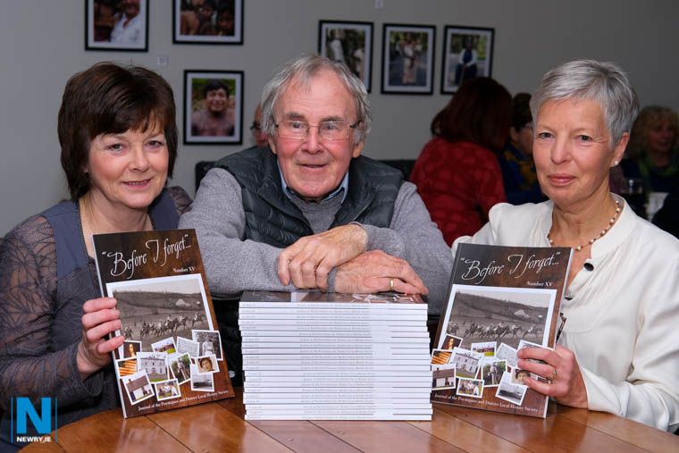 Launching the Poyntzpass and District Local History Society, Journal, Before I Forget in The Petty Sessions cafe in Poyntzpass were committee members from left: Helena Gamble, Frank Watters, Editor and Barbara Best, Treasurer.   The Journal will be widely available in businesses in Poyntzpass, Scarva, Markethill, Loughgilly, Tandragee, Banbridge, Loughbrickland, Lurganare and Newry and at a very reasonable price of £10 would make a unique Christmas present for friends, particularly those away from home. You can contact the Society by email : history@poyntzpass.co.uk  Photograph: Columba O'Hare/ Newry.ie