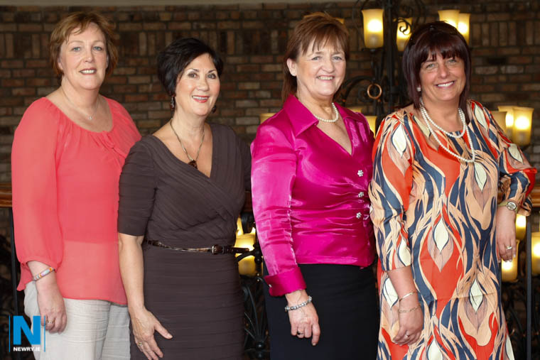 Cllr Geraldine Donnelly with Brenda Byrne, Hilary Halliday and Cllr Valerie Harte at the Southern Area Hospice Ladies Lunch in the Canal Court Hotel in 2012. Photograph: Columba O'Hare/ Newry.ie