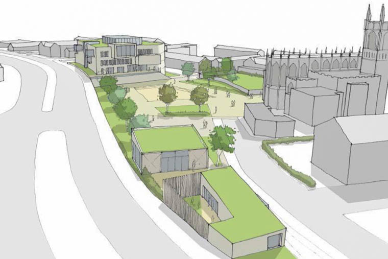 An artists impression of how the Abbey Way Civic Centre could look.
