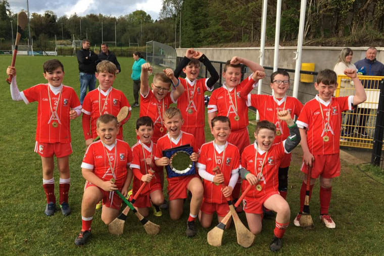 The successful Craobh Rua Under 10 team