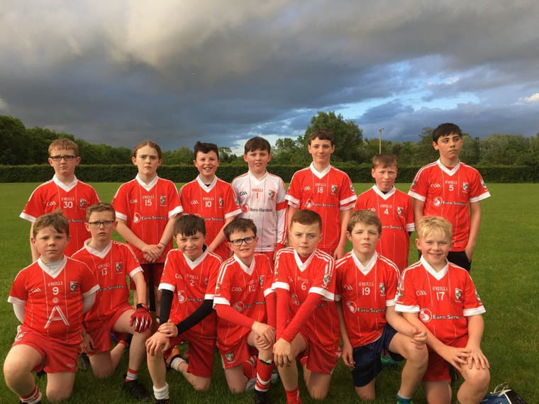 Craobh Rua U12.5 Team who defeated Sean Treacys in an exciting league game