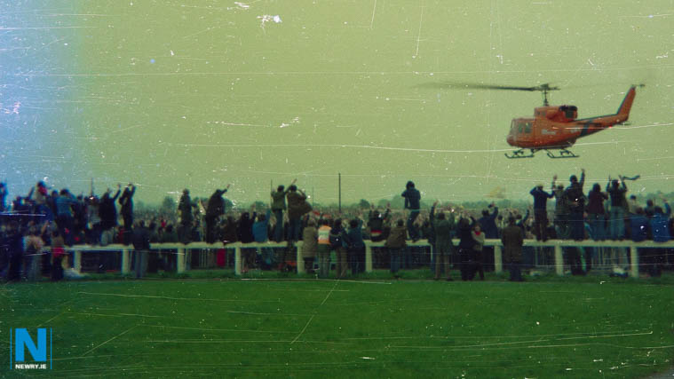 The Popes Helicopter at Galway.