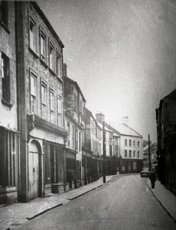 Shops in North Street pictured before they were demolished in the late 1960s. Photograph: Newry and Mourne Museum Collection