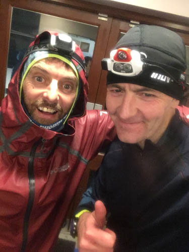 SGR Robbie Marsh and Martin Campbell at the Ultra in Wales