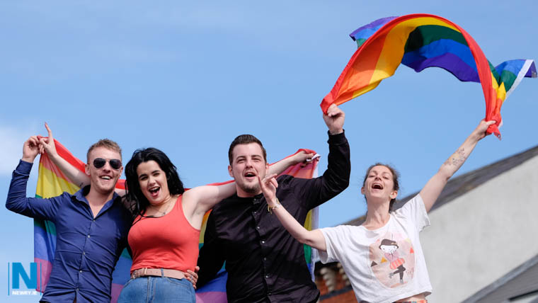Pride in Newry. Photograph: Columba O'Hare/ Newry.ie