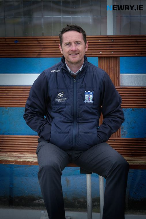 Darren Mullen, Manager, Newry City AFC. Photograph: Columba O'Hare/ Newry.ie