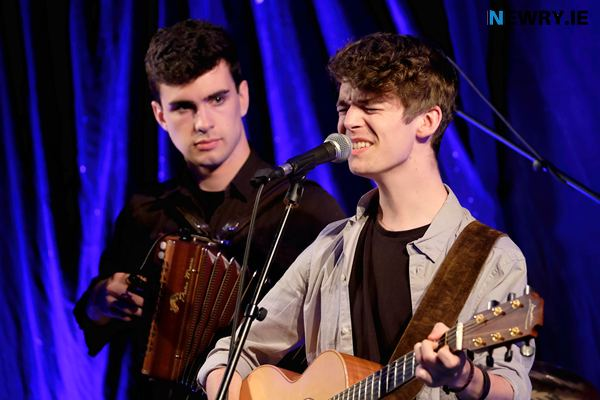Cathal, right with brother Eoin playing with Cuig at Iúr Cinn Fleadh in 2017. Photograph: Columba O'Hare/ Newry.ie