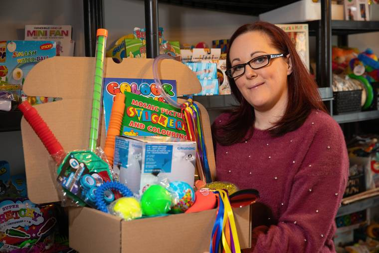 Louise Gartland from Drumaness, who has been shielding her severely disabled son throughout the pandemic, has been inundated with orders after launching a sensory box business, thanks to support from the Go For It Programme in association with Newry, Mourne and Down Council.