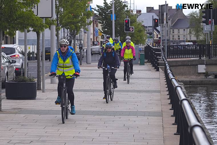 A group of cyclists on Merchant's Quay in Newry. Photograph: Columba O'Hare/ Newry.ie