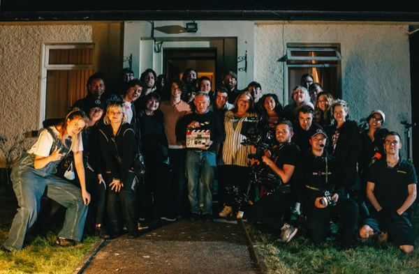 The cast and crew. Photograph: Nathan Magee