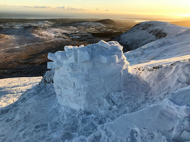 Nestled on Slieve Muck the igloo certainly had  the perfect position. Photograph: Stephen Rooney