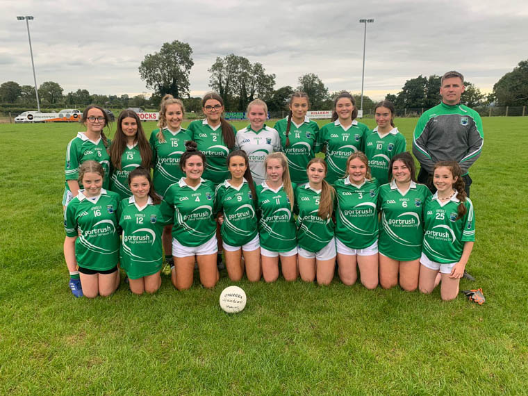 Shane O'Neill's U16.5 girls who are through to the championship final