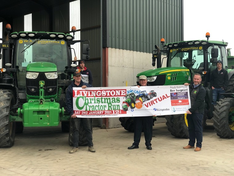 : Issuing a final reminder to get your entry in for the Online Virtual Livingstone Christmas Tractor Run which is taking place online this year on Saturday 2nd January 2021 are (front row L-R) Stanley Livingstone, David Livingstone, Cedric Livingstone, (back row L-R) Alexander Livingstone and Kyle Livingstone. Entries should be submitted by 30th December 2020.