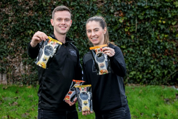 Luke Judge and Evelyn Garland, co-founders of Simply Fit Food, with their Powerbowl products which will be stocked in Tesco Ireland stores.