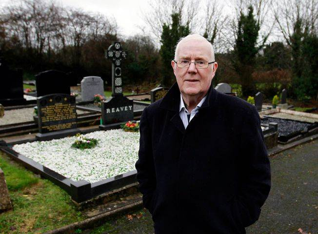 Eugene Reavey in Ballymoyer Graveyard where his brothers are laid to rest.