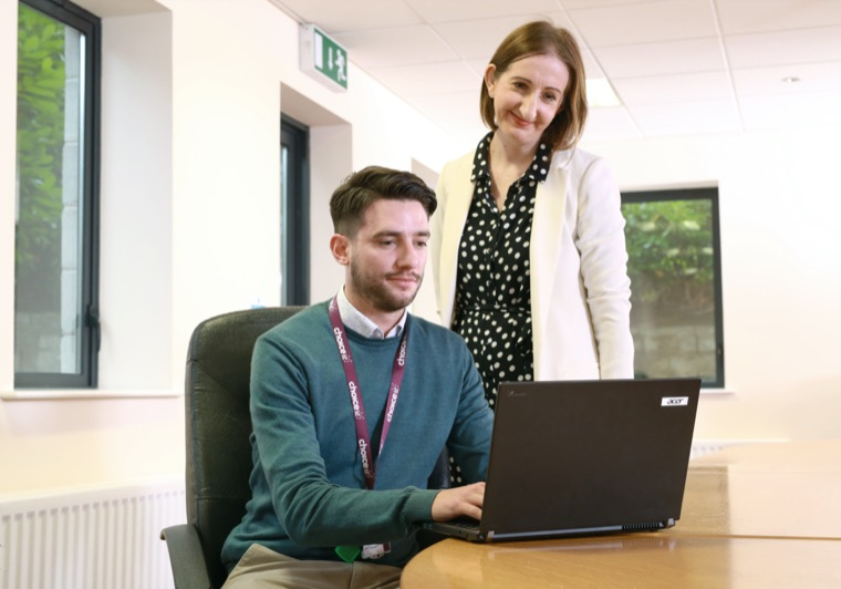 Edel McLaughlin, HR & Training Officer and Niall McStay, Choice Housing Area Housing Officer. During the pandemic Choice has delivered a wide range of support programmes for their staff.