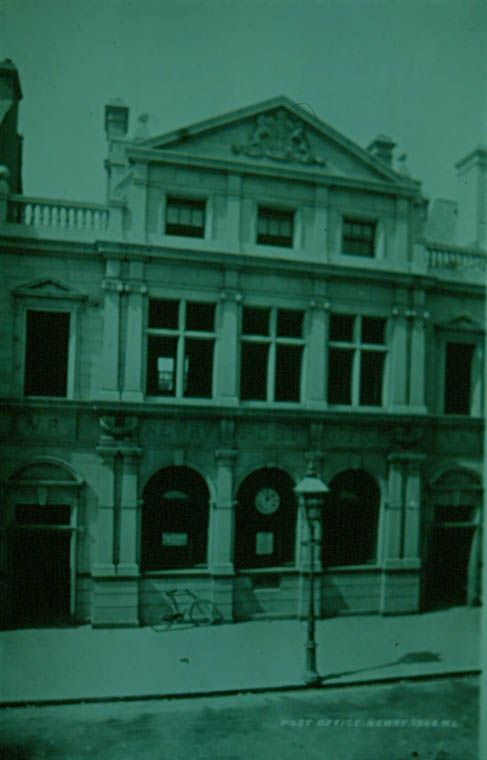 Newry Post Office pictured in the early years of the 20th century. Newry and Mourne Museum Collection