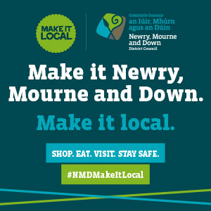 Newry, Mourne and Down District Council shop local advert in article July 2021