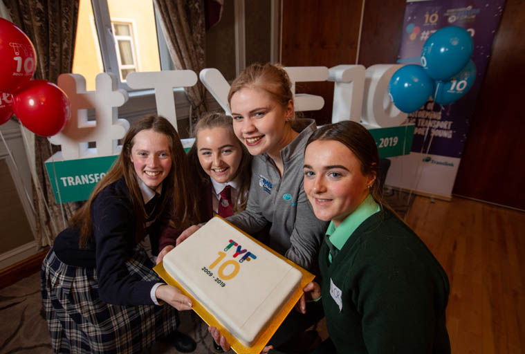 Pictured at the Newry Translink Youth Forum workshop (L-R): Sara Cunnane from Our Lady's Grammar School, Grace Boyle, St Paul's High School and Orla McNulty, Sacred Heart Grammar School with Lucy Grainger, Translink.