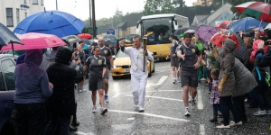 Olympic Flame travels to Pairc Esler