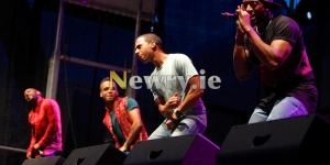 JLS and friends at Party in the Park, Pairc Esler, Newry