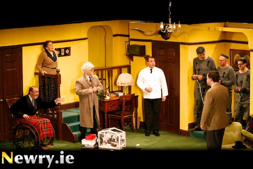 The Man Who Came To Dinner at Newry Drama Festival. Photograph: Columba O'Hare