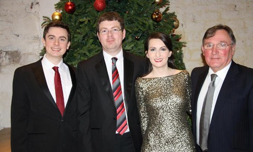 Included from left: Aaron O'Hare (Baritone), Dr Robert Whan (Speaker), Fiona Flynn (Soprano) and Gerry Doherty (Pianist).