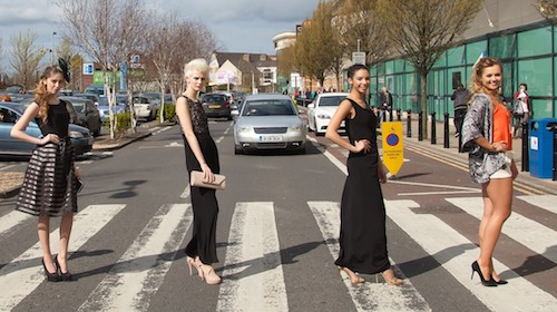 Models outside The Quays for the Newry Style City event. Photograph: John Lambe Photography