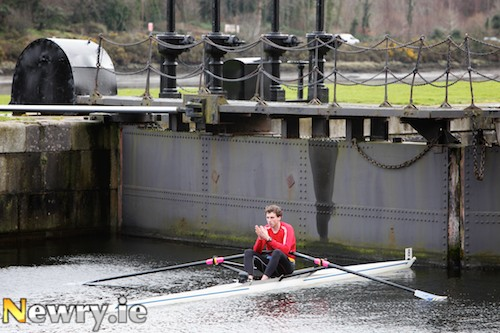Waiting for the trials to start at Victoria Lock, Newry at the Rowing Ireland time trials on Newry Canal on Sunday. Photograph: Columba O'Hare