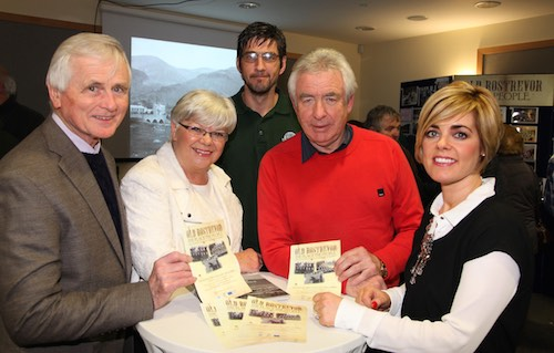 Pictured at the Old Rostrevor Exhibition last night in the Cloughmore Centre are Kevin Hanna, Hilary McGrath and Patricia Strong, Rostrevor Historical Society, with Ian Colgan, Newry and Mourne District Council and Catherine McGinn MAC PR.