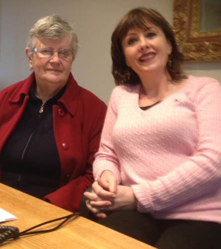 Sr Kathleen Mc Veigh pictured with Life & Skills Coach Teresa Boyle