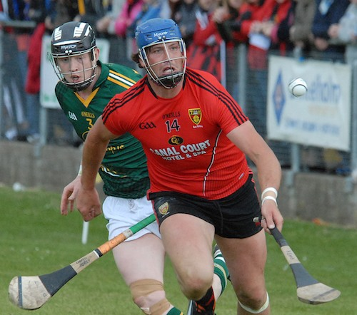 Down's Gareth Johnston out in front in the replay against Meath.